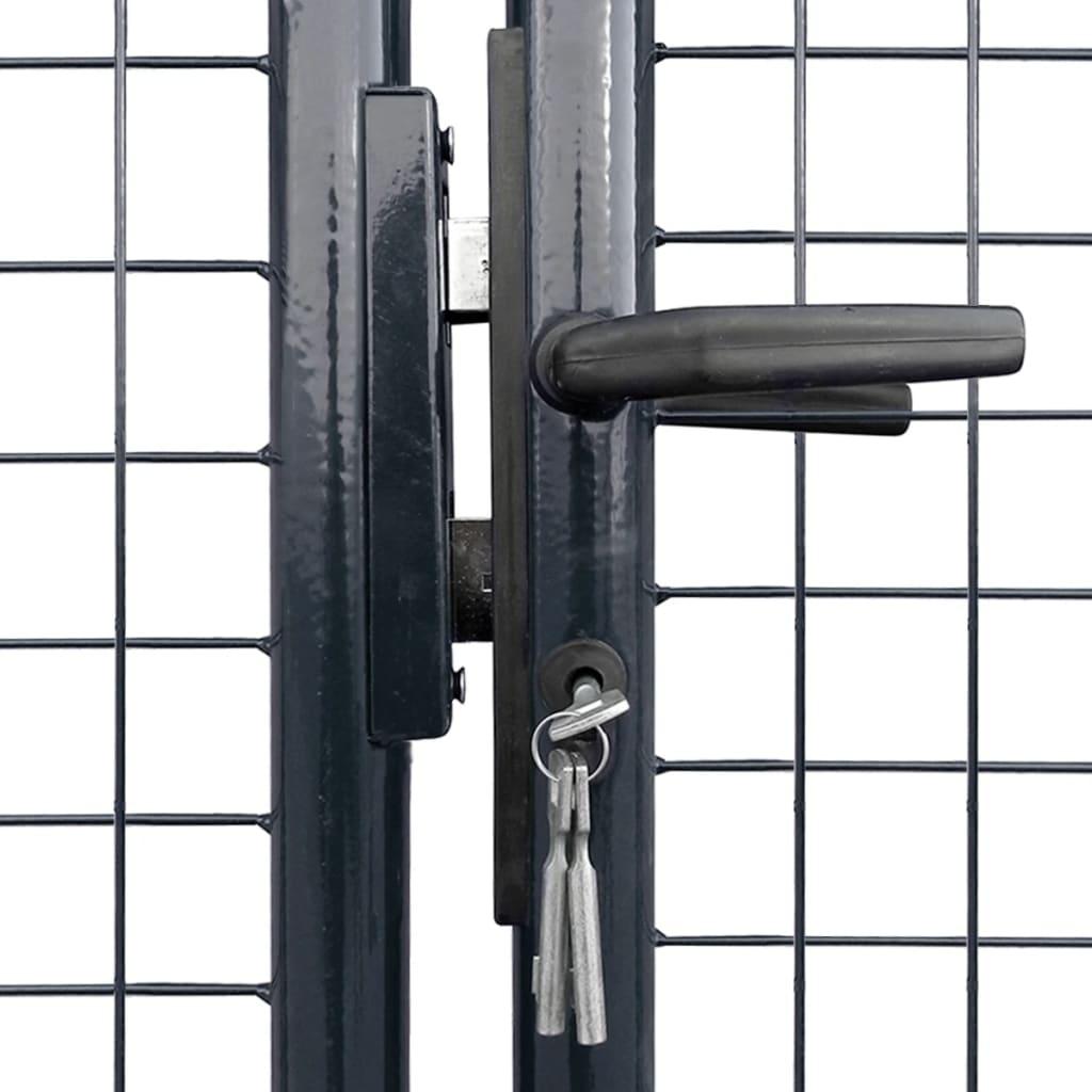 Poartă din plasă grădină, oțel galvanizat, 400 x 150 cm, gri