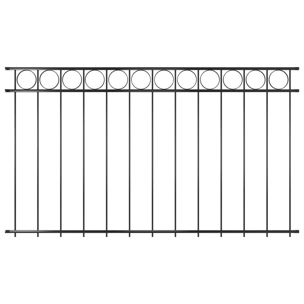 vidaXL Panou de gard, negru, 1,96 x 1,2 m, oțel