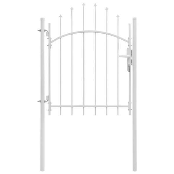 vidaXL Poartă de grădină, alb, 1 x 1,75 m, oțel