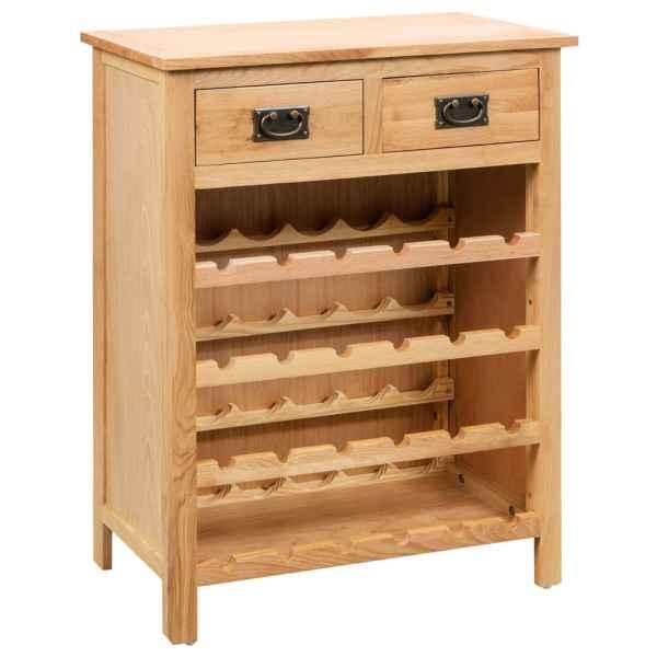 vidaXL Dulap de vinuri, 72 x 32 x 90 cm, lemn masiv de stejar