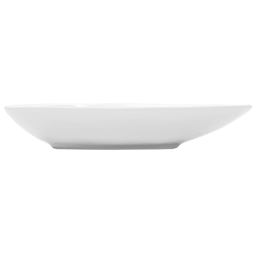 Chiuvetă din ceramică, alb, 645 x 455 x 115 mm, triunghi