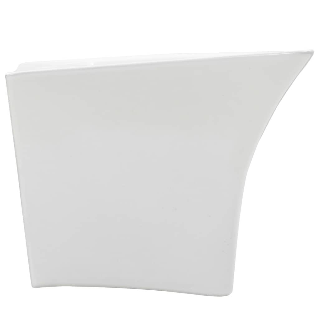 Chiuvetă de perete, alb, 530 x 440 x 370 mm, ceramică