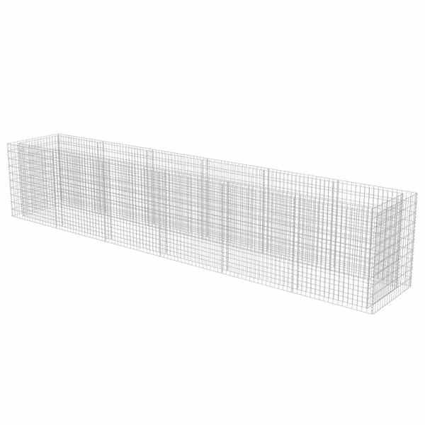vidaXL Strat înălțat gabion, 540 x 90 x 100 cm, oțel galvanizat