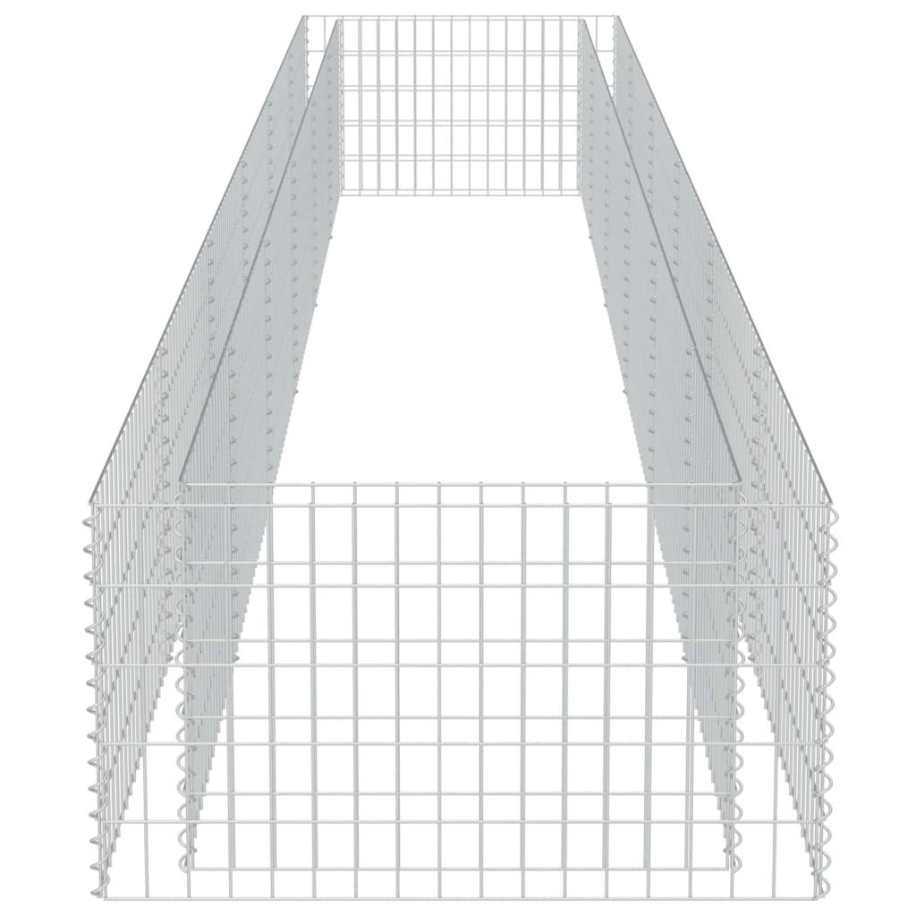 Strat înălțat gabion, 540 x 90 x 50 cm, oțel galvanizat