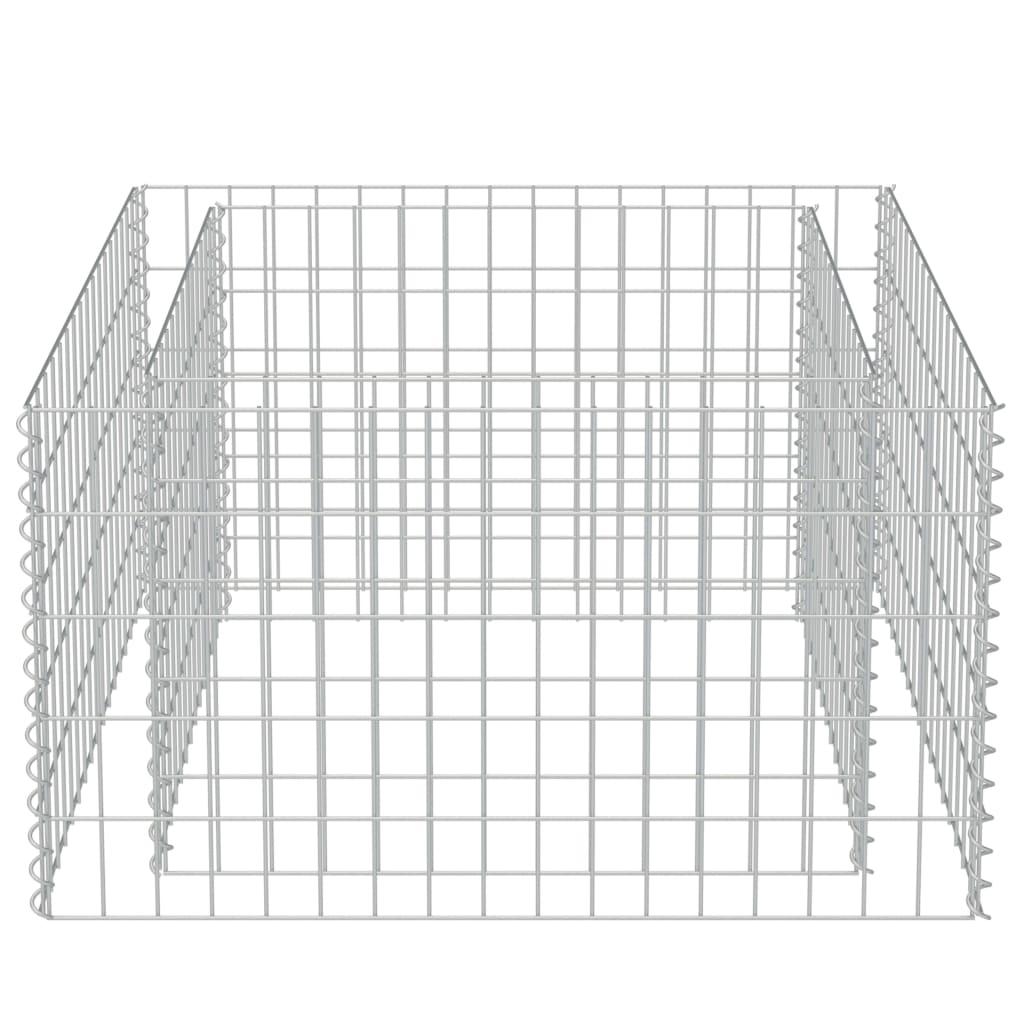 Strat înălțat gabion, 90 x 90 x 50 cm, oțel galvanizat