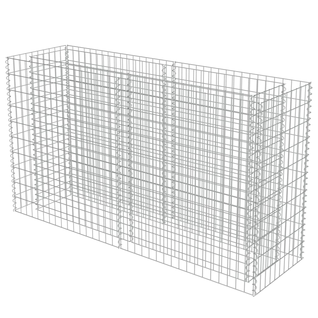 Strat înălțat gabion, 180 x 50 x 100 cm, oțel galvanizat