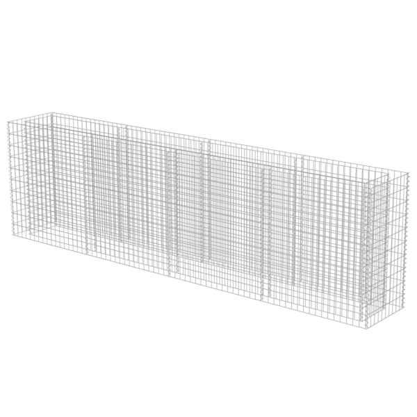 vidaXL Strat înălțat gabion, 360 x 50 x 100 cm, oțel galvanizat
