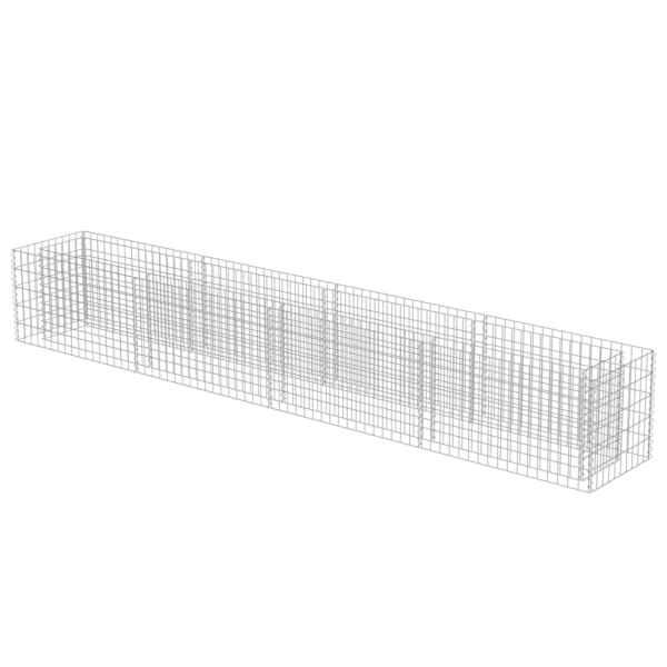 vidaXL Strat înălțat gabion, 360 x 50 x 50 cm, oțel galvanizat