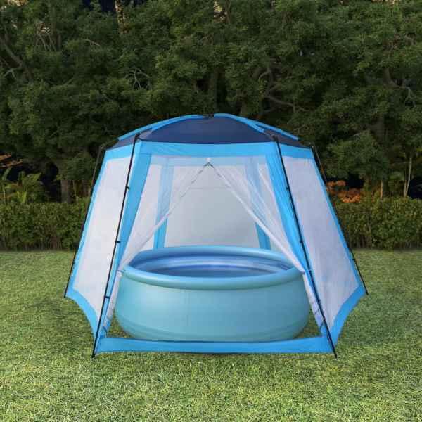 vidaXL Cort de piscină, albastru, 500 x 433 x 250 cm, țesătură