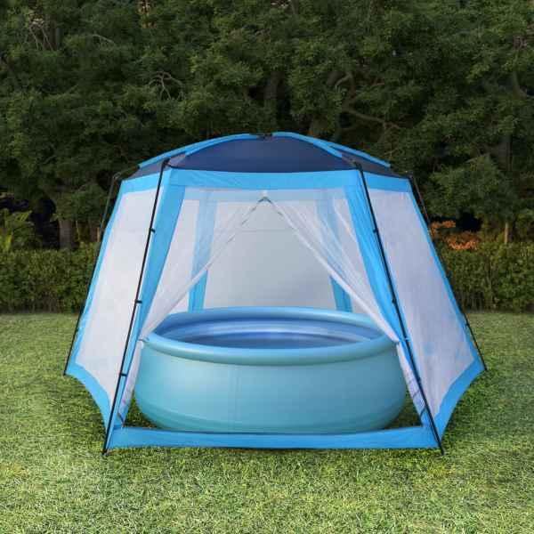 vidaXL Cort de piscină, albastru, 660 x 580 x 250 cm, țesătură
