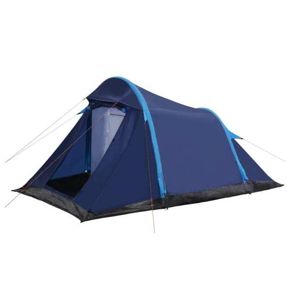 vidaXL Cort camping cu grinzi gonflabile albastru 320x170x150/110 cm