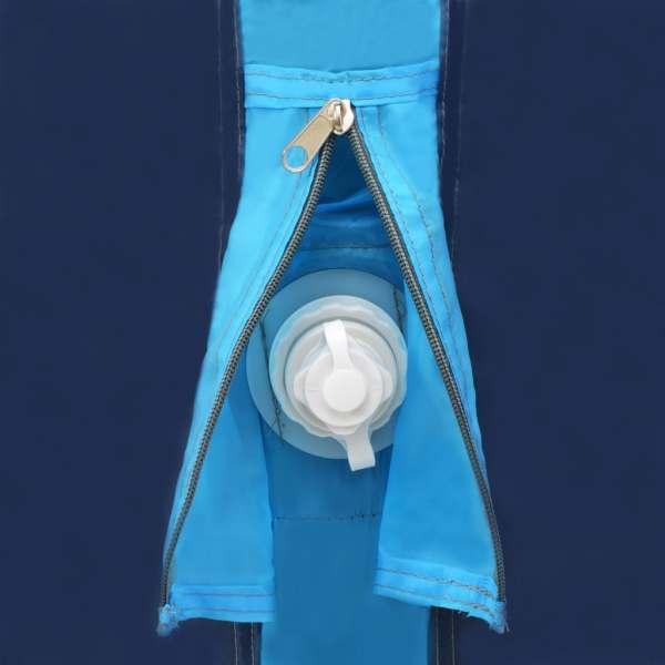 Cort camping cu grinzi gonflabile albastru 320x170x150/110 cm