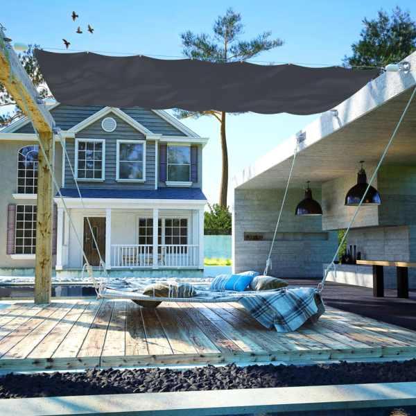 vidaXL Copertină de terasă, gri, 140 x 420 cm, țesătură oxford