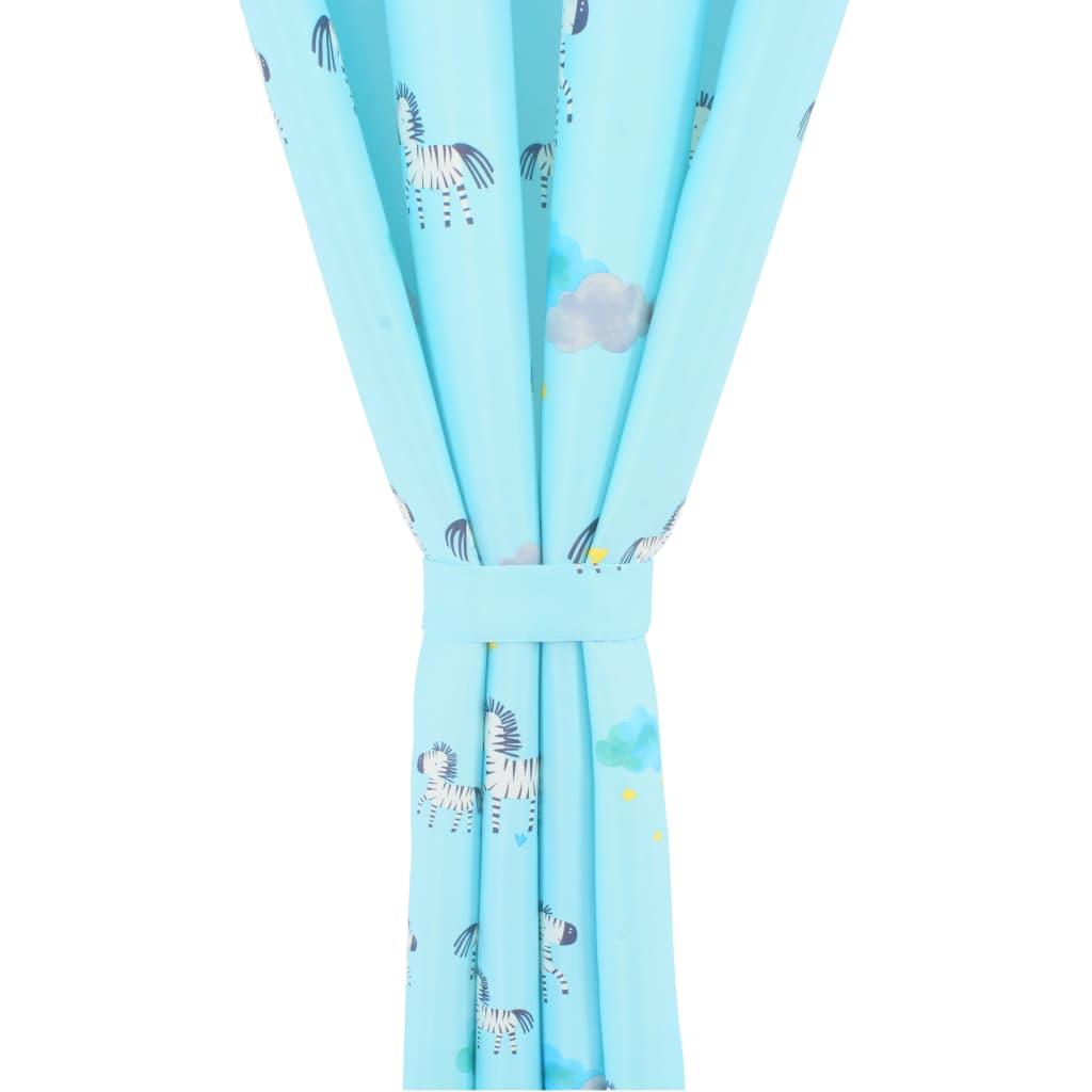 vidaXL Draperii opace pentru copii, 2 buc., 140 x 240 cm, zebre