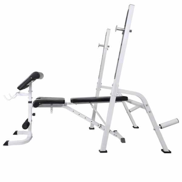 vidaXL Bancă antrenament rastel greutăți, set haltere/gantere, 60,5kg