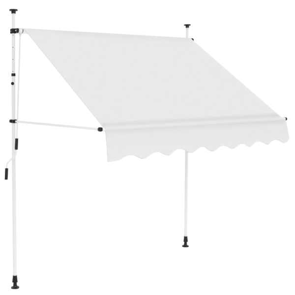 vidaXL Copertină retractabilă manual, crem, 150 cm