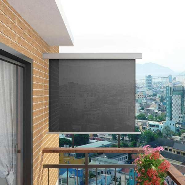 vidaXL Copertină laterală multifuncțională balcon, gri, 150 x 200 cm