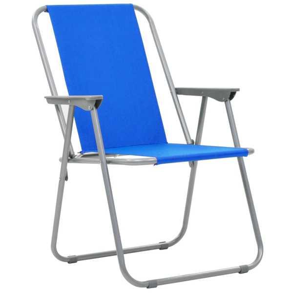 Scaune camping pliabile, 2 buc., albastru, 52x59x80 cm