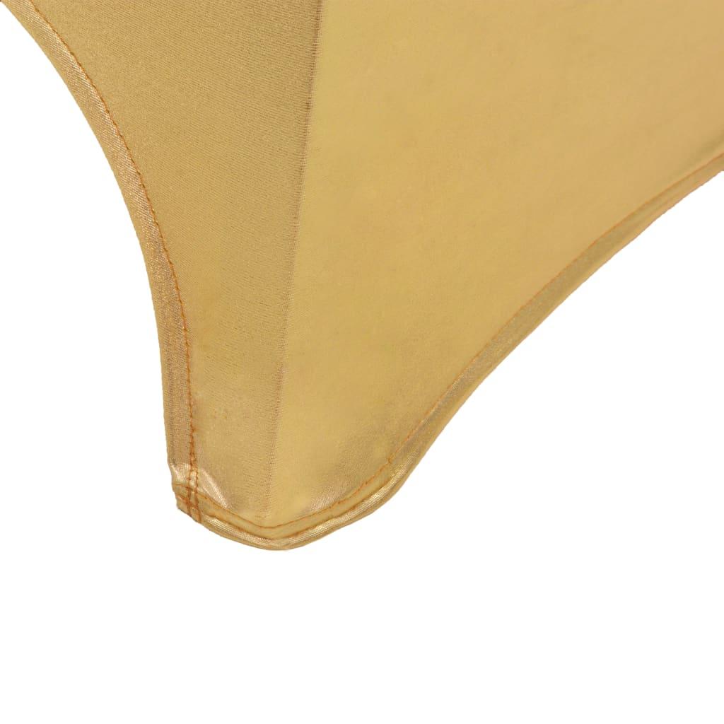 Huse elastice pentru scaun, 6 buc., auriu