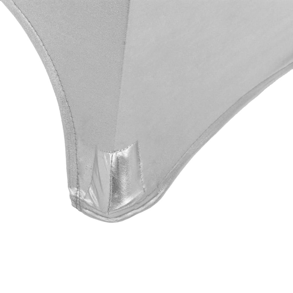 vidaXL Huse elastice de masă, 2 buc., argintiu, 70 cm