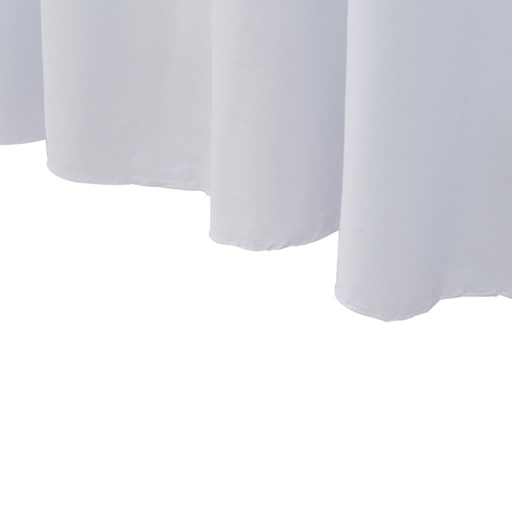 Huse de masă elastice, 2 buc., alb, 183 x 76 x 74 cm