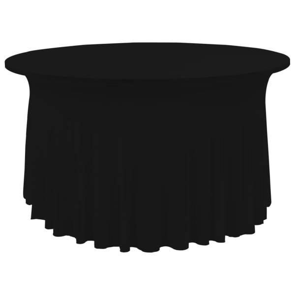 vidaXL Huse elastice de masă lungi, 2 buc., negru, 120×74 cm