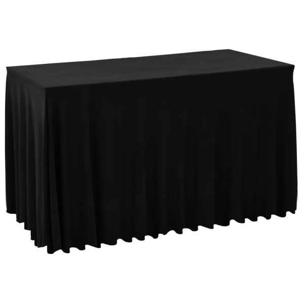 vidaXL Huse elastice de masă, negru, 183x76x74 cm
