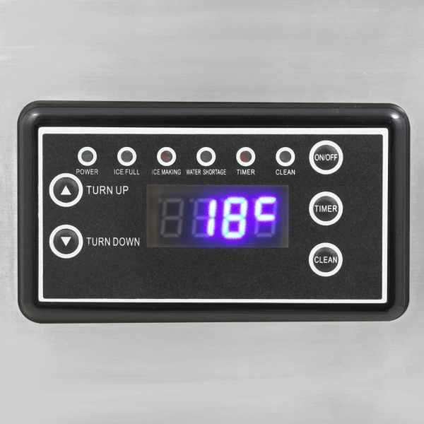 vidaXL Aparat de făcut cuburi de gheață, negru, 420 W, 45 kg / 24 h