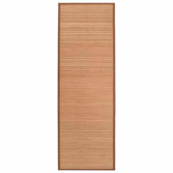 vidaXL Covor yoga, maro, 60 x 180 cm, bambus