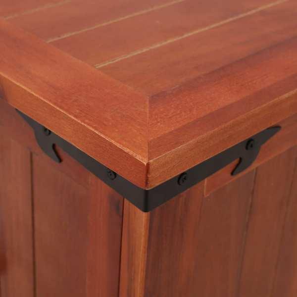 Cufăr de depozitare, 60 x 25 x 22 cm, lemn masiv de salcâm