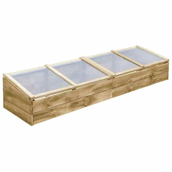 vidaXL Seră, 200 x 50 x 35 cm, lemn de pin tratat