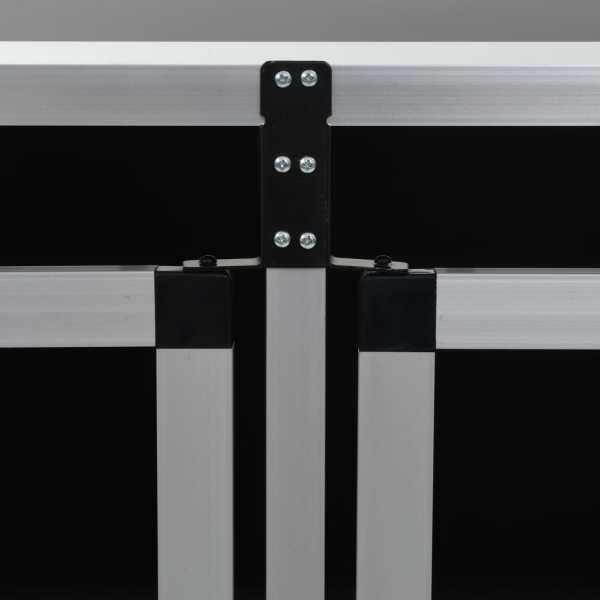 Cușcă de câini cu ușă dublă, 94 x 88 x 69 cm