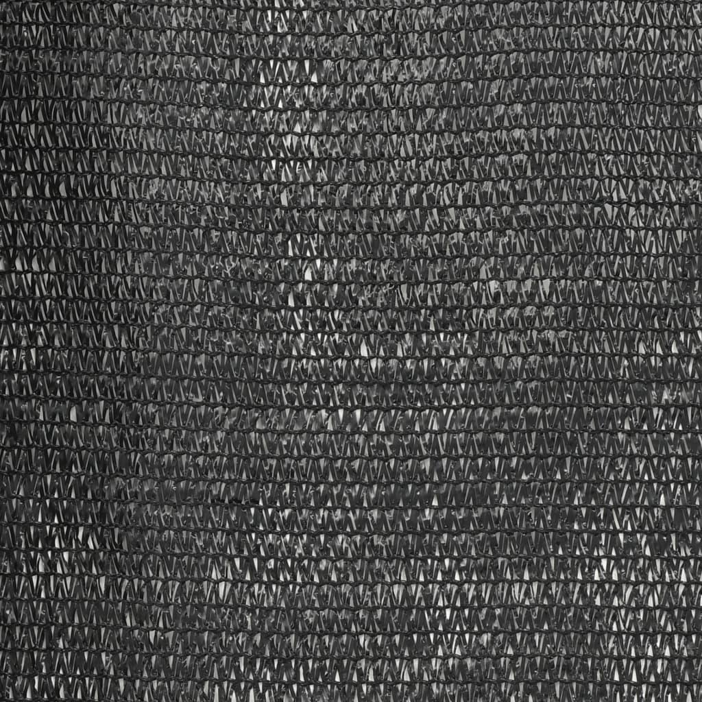 vidaXL Plasă protecție vizuală, negru, 1 x 25 m, HDPE