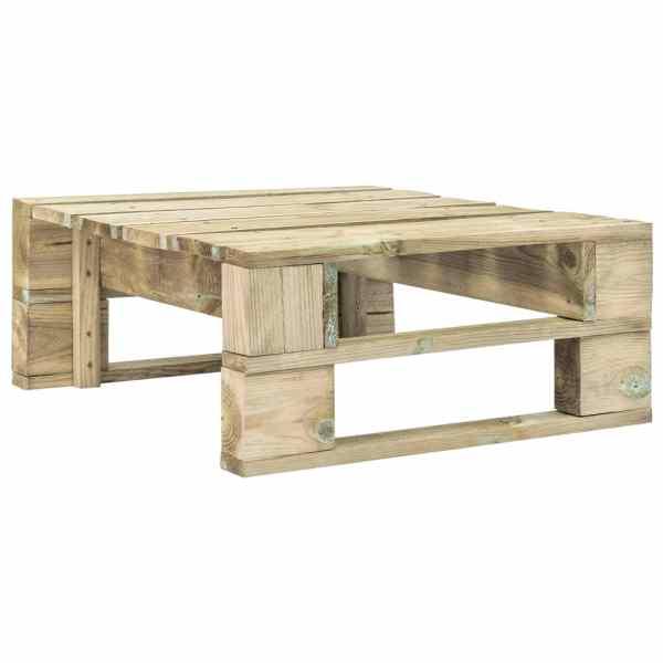vidaXL Taburet de grădină din paleți, lemn