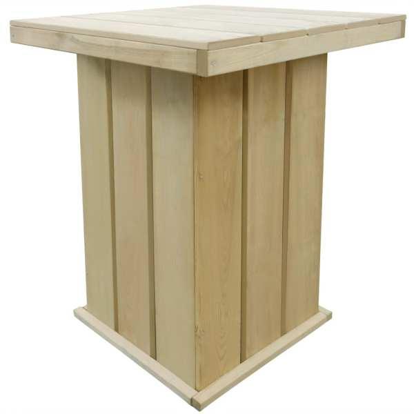 vidaXL Masă de bar, 75 x 75 x 110 cm, lemn de pin tratat