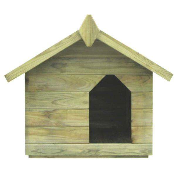 vidaXL Cușcă de câine grădină, acoperiș detașabil, lemn de pin tratat