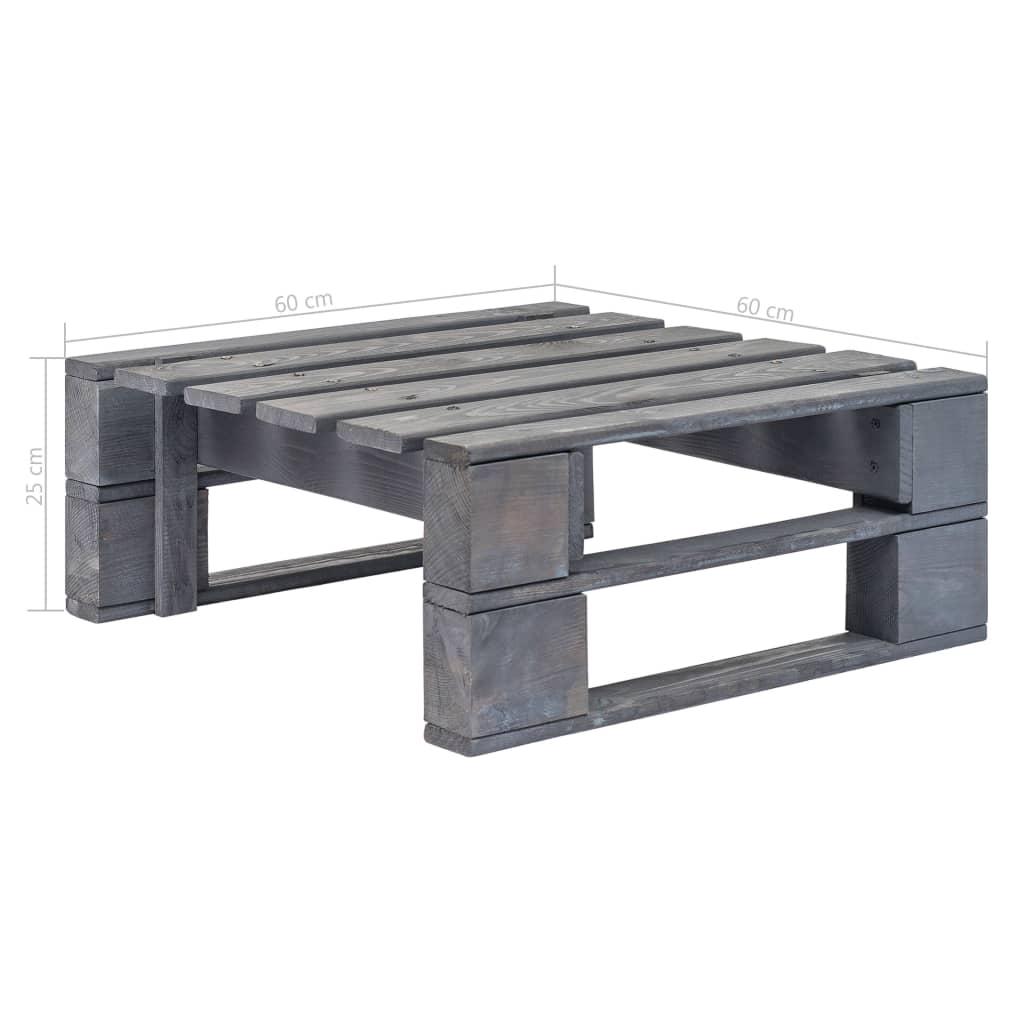 vidaXL Taburet de grădină din paleți, gri, lemn