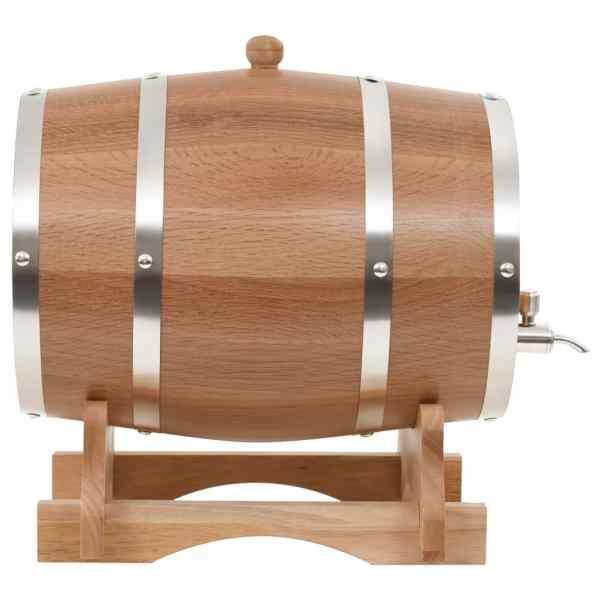 vidaXL Butoi de vin cu canea, stejar masiv, 12 L
