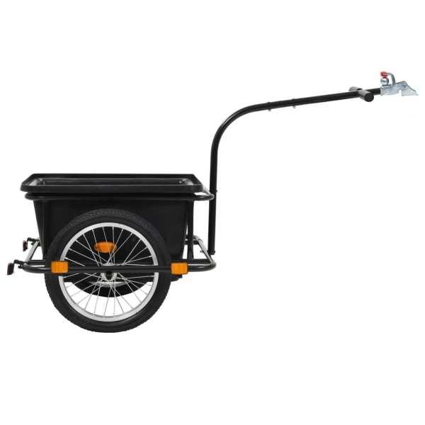 vidaXL Remorcă de bicicletă pentru mărfuri, 50 L, negru