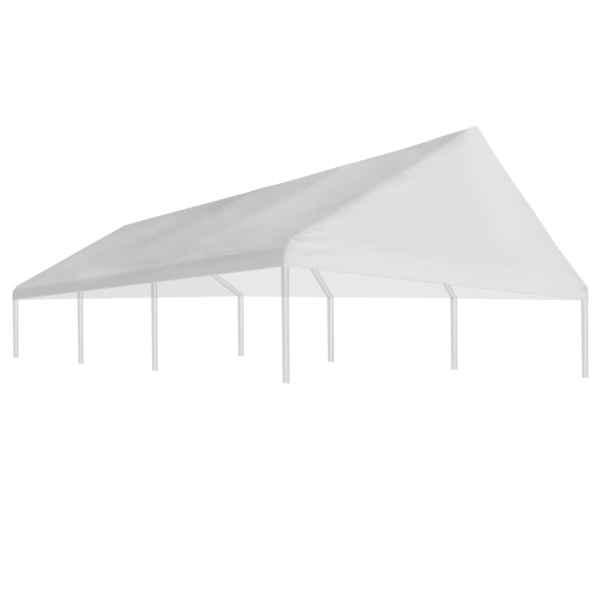 Acoperiș de cort de petrecere, alb, 4 x 6 m