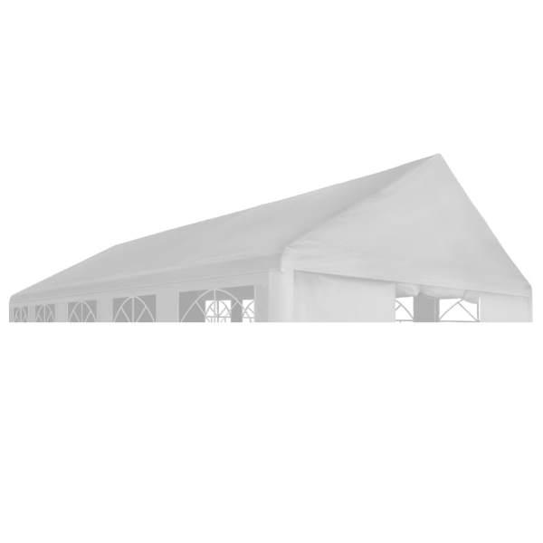 vidaXL Acoperiș de cort de petrecere, alb, 5 x 10 m