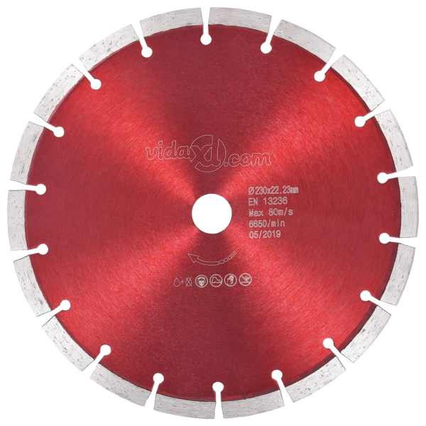 vidaXL Disc diamantat de tăiere, oțel, 230 mm