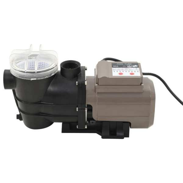 vidaXL Pompă de piscină cu temporizator, negru, 0,25 CP, 8000 L/h