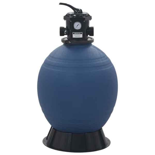 vidaXL Filtru cu nisip pentru piscină supapă 6 poziții albastru 560 mm
