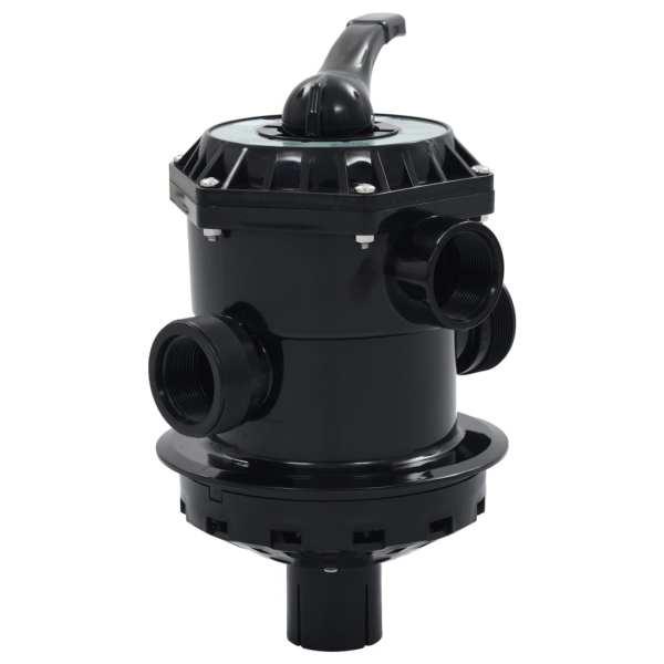 vidaXL Supapă multiport pentru filtre cu nisip ABS 1,5″ 6 căi