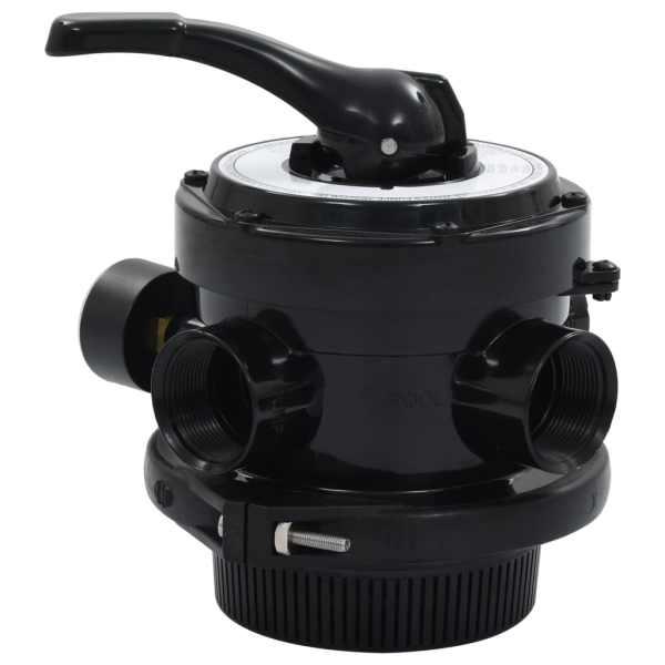 vidaXL Supapă multiport pentru filtre cu nisip ABS 1,5″ 4 căi