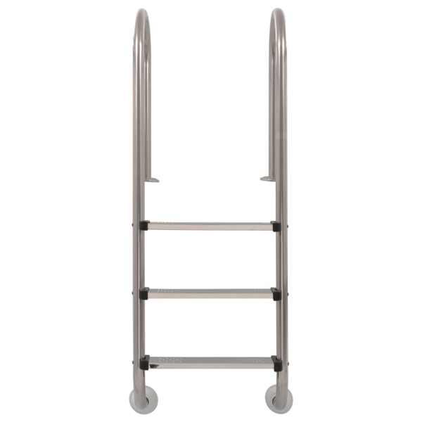 vidaXL Scară pentru piscină, cu 3 trepte, 120 cm, oțel inoxidabil