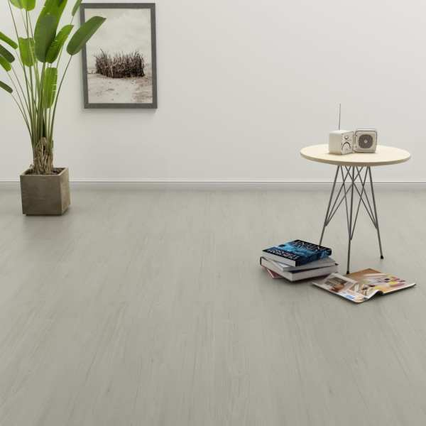 vidaXL Plăci autoadezive pardoseală gri deschis PVC 4,46 m² 3 mm