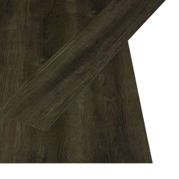 Plăci autoadezive pardoseală maro închis PVC 4,46 m² 3 mm