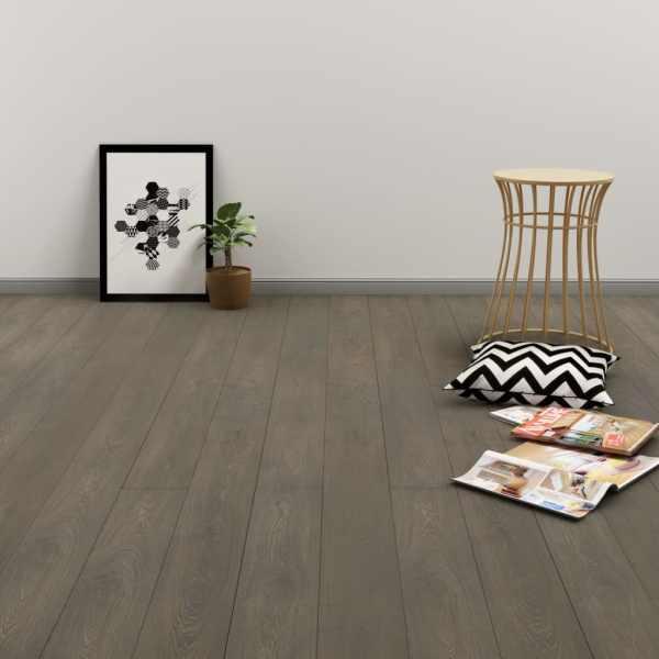 vidaXL Plăci autoadezive pardoseală gri & maro PVC 4,46 m² 3 mm